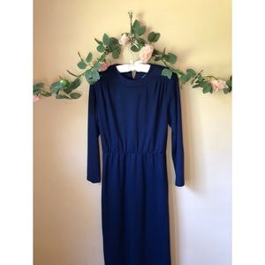 Vintage 80s Willow Ridge Long Sleeve Dress…